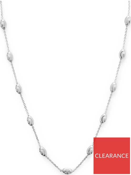59760252de96 LINKS OF LONDON Essentials Sterling Silver Beaded Necklace - Silver ...