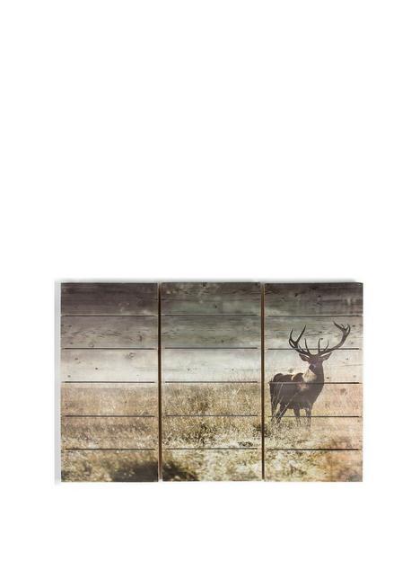 graham-brown-highland-stag-print-onnbspfir-wood
