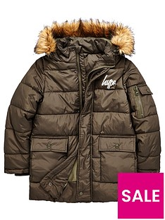 hype-khaki-puffa-jacket