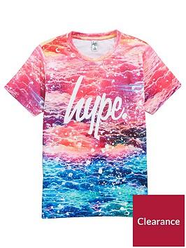 hype-girls-pink-sky-print-t-shirt