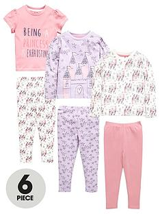mini-v-by-very-girls-3-pack-princess-castle-pyjamas