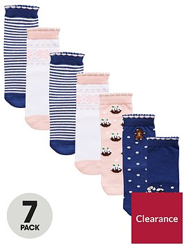 mini-v-by-very-girls-7-pack-christmas-novelty-socks