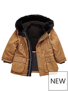 mini-v-by-very-boys-contrast-coat-with-faux-fur-hood