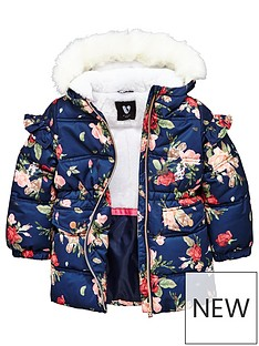 mini-v-by-very-girls-faux-fur-lined-floral-padded-coat