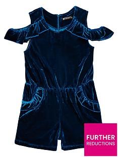 mini-v-by-very-girls-turquoise-velvet-party-playsuit