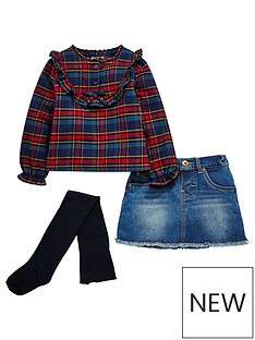 mini-v-by-very-girls-ruffle-check-shirt-denim-skirt-and-tights-outfit
