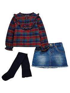mini-v-by-very-girls-tartan-ruffle-shirt-denim-skirt-and-tights-outfit
