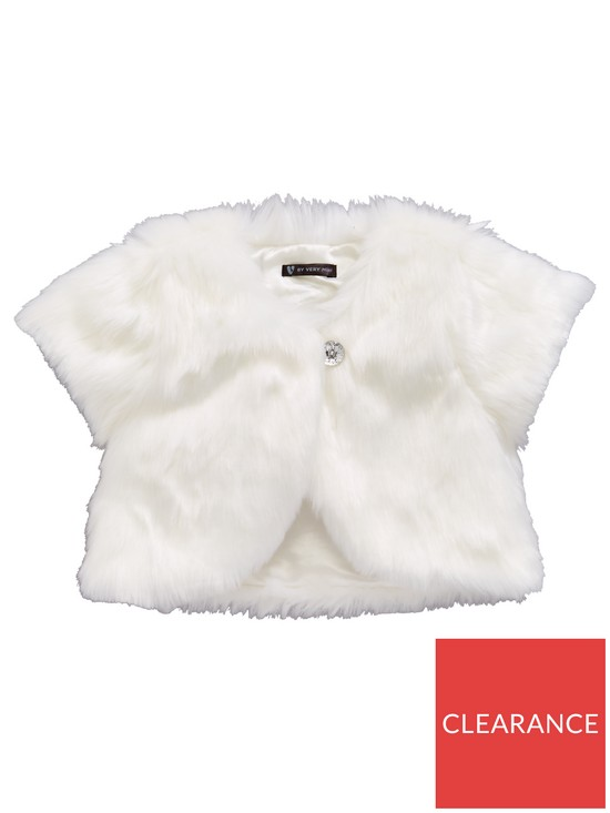0bea05a2a Mini V by Very Girls 0-16 Years Occasion Faux Fur Shrug