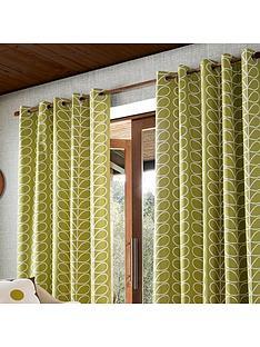 orla-kiely-orla-kiely-linear-stem-lined-eyelet-curtains