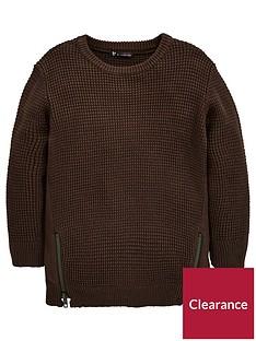 mini-v-by-very-boys-longline-zip-sweater