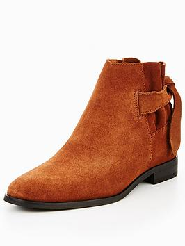 Hudson London Hudson Aretha Suede Tan Tie Ankle Boot