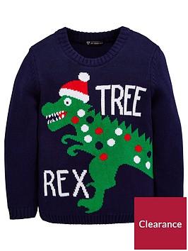 mini-v-by-very-tree-rex-boys-christmas-jumper