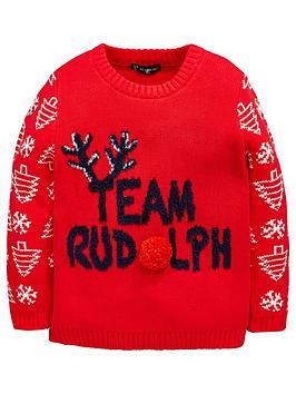 mini-v-by-very-team-rudolph-boys-christmas-jumper