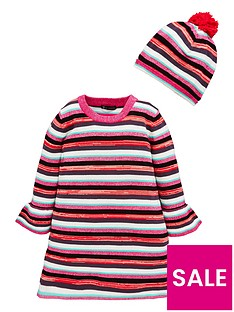 mini-v-by-very-girls-stripe-bell-sleeve-knitted-dress-and-bobble-hat