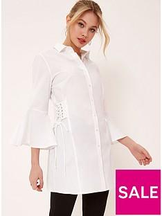 girls-on-film-flare-sleeve-shirt-dress-white