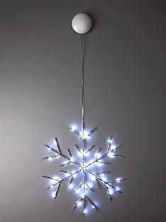 lit-copper-wire-snowflake-christmas-decoration