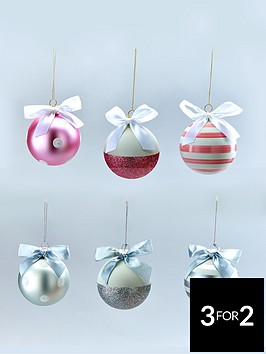 glass-christmas-tree-baubles-with-bows-pinksilver-6-pack