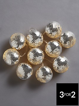 string-of-10-silver-sequined-ball-battery-operated-christmas-lights
