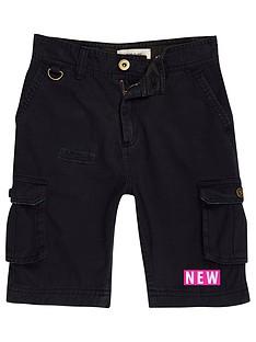 river-island-boys-navy-cargo-shorts