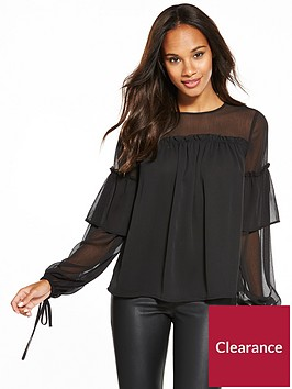 v-by-very-volume-tie-sleeve-blouse