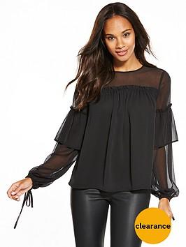 v-by-very-volume-tie-sleeve-blouse
