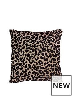 myleene-klass-leopard-cushion--nbspblack