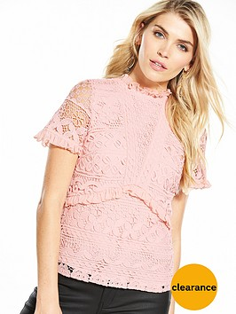 v-by-very-premium-lace-frill-top-pink