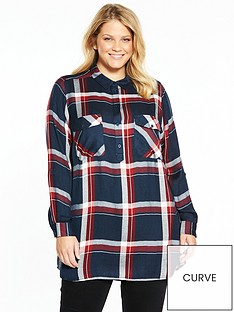 v-by-very-curve-longline-check-shirt