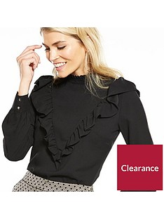 v-by-very-high-neck-ruffle-blouse