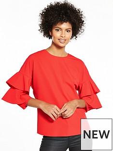 v-by-very-ruffle-sleeve-blouse