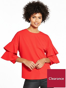 v-by-very-ruffle-sleeve-blouse
