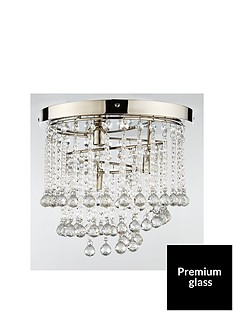 luxe-collection-sorrento-flush-cascading-3-light-crystal-drop-light