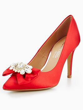 Head Over Heels Addore Brooch Court Shoe
