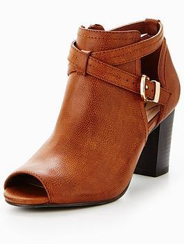 wallis-abree-peep-toe-ankle-boot-tan