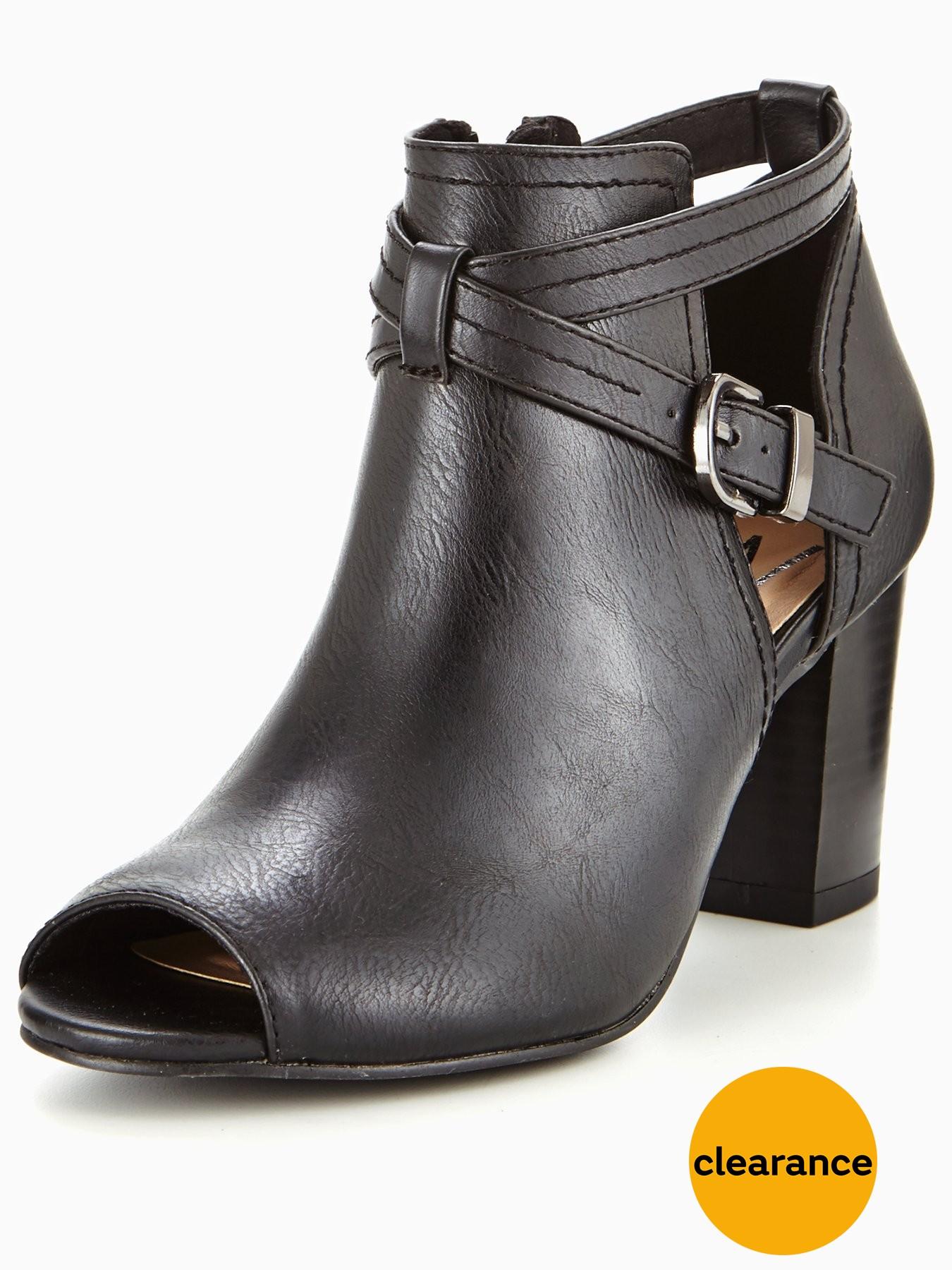 Wallis Abree Peep Toe Ankle Boot Black 1600184713 Women's Shoes Wallis Boots