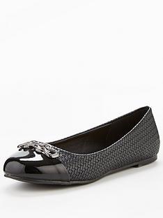 wallis-beep-trim-detail-ballerina-black