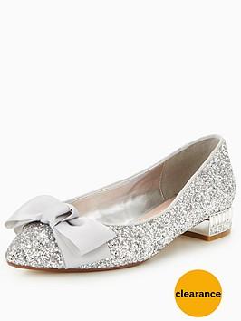 dune-bow-bela-flat-glitter-court-shoe-silver