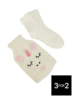 unicorn-hot-water-bottle-amp-sock-set