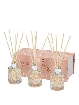 love-home-love-home-set-of-3-pressed-glass-diffusers-silver-collars-amp-natural-reeds