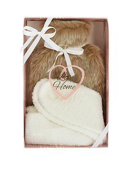 love-home-love-home-faux-fur-hot-water-bottle-amp-sock-set