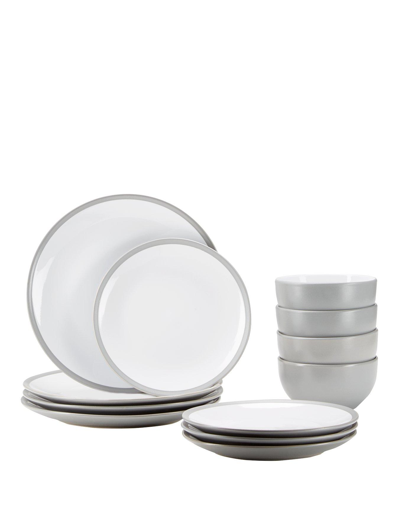 ideal home edge 12 piece dinner set grey  sc 1 st  piexhome.tk & Grey Dinner Sets Uk. denby intro alfresco 16 piece dinner set grey ...