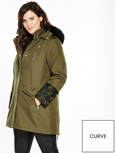 v-by-very-curve-lace-cuff-parka-coat-khaki