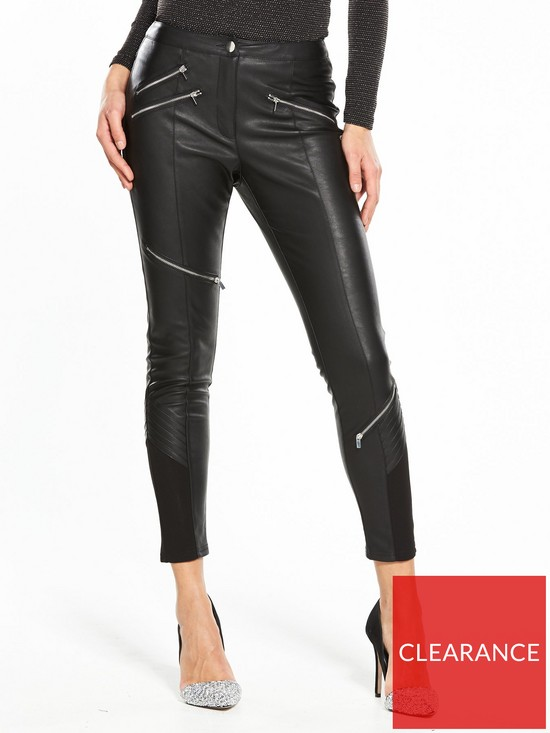05b7baa506b39 V by Very Faux Leather Biker Trouser | very.co.uk