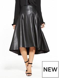 v-by-very-high-low-pu-skirt