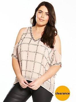 v-by-very-curve-embellished-cold-shoulder-blouse
