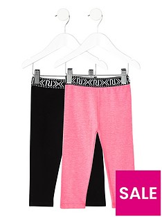 river-island-mini-girls-black-and-pink-leggings-multipack