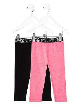 river-island-mini-girls-black-and-pink-leggings-multipack