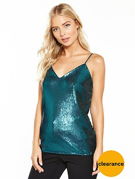v-by-very-sequin-bow-back-cami