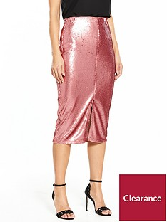 v-by-very-sequin-midi-skirt-rose-pink