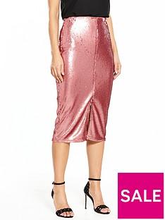 v-by-very-sequin-midi-skirt
